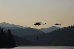 helicópteros Imagem de Stock