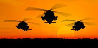 Helicópteros ilustración del vector