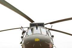 Helicópteros civis verdes Fotos de Stock