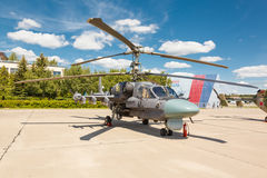 Helicópteros das forças armadas do russo Ka-52 Fotografia de Stock