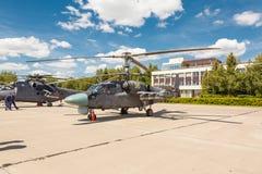 Helicópteros das forças armadas do russo Ka-52 Imagem de Stock