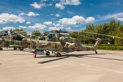 Helicópteros das forças armadas do russo Mi-28 Imagens de Stock Royalty Free