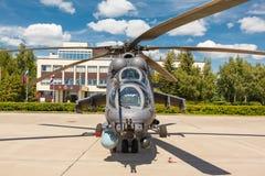 Helicópteros das forças armadas do russo Mi-24 Fotos de Stock Royalty Free
