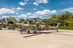 Helicópteros das forças armadas do russo Mi-28 Foto de Stock