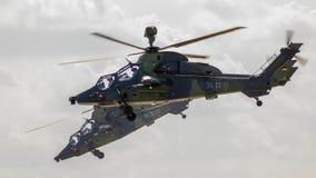 Helicópteros de ataque del tigre de Airbus-Eurocopter EC-665 del ejército alemán imágenes de archivo libres de regalías