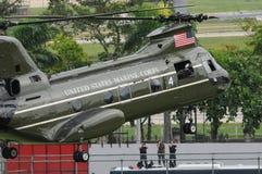 Helicópteros de la fuerza aérea americana fotografía de archivo