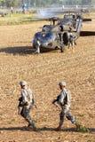Helicópteros de los soldados de los E.E.U.U. Fotografía de archivo