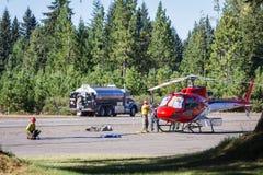 Helicópteros del bombero Imagenes de archivo