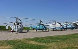 Helicópteros del siglo pasado Foto de archivo