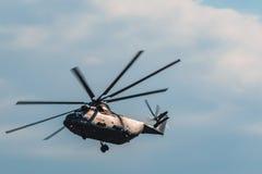 Helicópteros do russo Mi-26 em MAKS Airshow 2015 Imagens de Stock