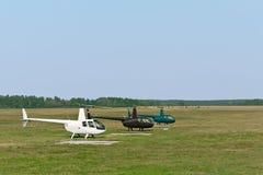 Helicópteros ligeros Foto de archivo