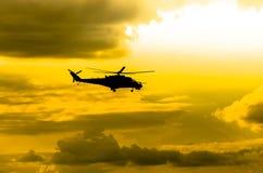 Helicópteros Mi-24 Imagens de Stock