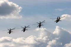 Helicópteros militares Imagenes de archivo