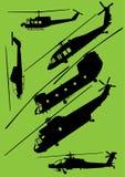 Helicópteros modernos del Ejército del EE. UU. Foto de archivo libre de regalías