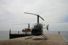Helicópteros na chave Fotografia de Stock