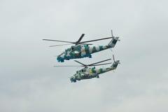 Helicópteros ucranianos do exército Mi-24 Foto de Stock