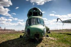 Helicópteros viejos del almacenamiento Imágenes de archivo libres de regalías