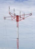 Helical antenna on the mast Royalty Free Stock Images