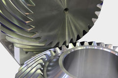 Helical bevel gear Stock Image