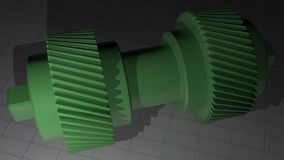 Helical gear - Toothed pinion Stock Images