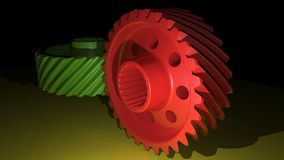 Helical gears Stock Photography