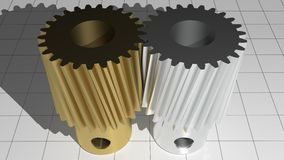 Helical gears - Toothed pinions Stock Photography