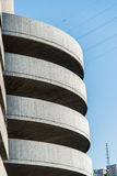 Helical. Spiral ramp that leads to a large parking Royalty Free Stock Photography