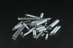 Helical springs Stock Photos