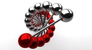 Helice d'ADN - un regard à l'intérieur illustration libre de droits