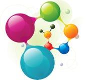 Helice de molécule Photos libres de droits