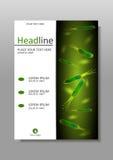 Helicobacter-Pförtnerbakterien Abdeckungs-Designschablone in A4 Stockfotos