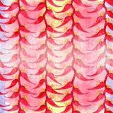 Heliconia 水彩 异乎寻常的花-装饰构成 花卉主题 无缝的模式 库存照片