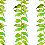 Heliconia-Aquarellmuster Vektor Tropisches Muster Stockfoto