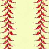 Heliconia watercolor Fiori esotici - composizione decorativa Motivi floreali Reticolo senza giunte Fotografia Stock Libera da Diritti