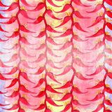 Heliconia watercolor Flores exóticas - composición decorativa Adornos florales Modelo inconsútil Foto de archivo