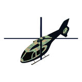 Helicoper militar isométrico Ilustración del Vector