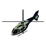 Helicoper militare isometrico Fotografie Stock Libere da Diritti