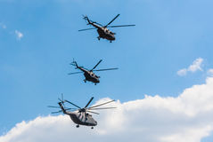 Helicopt Mil Mi-8AMTSH Mi-171SH русской военновоздушной силы Стоковое Изображение