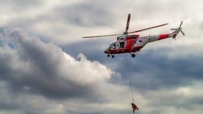 Helicopte del rescate Fotos de archivo