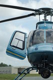 Helicopter. Photograph of a Bell 407 Helicopter.  No identifing features are present in the photo Stock Photos