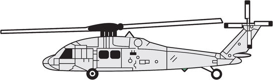 Helicopter. Silhouette a helicopter, illustration stock illustration
