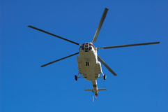 Helicopter. Russian helicopter Mi-8 Royalty Free Stock Image