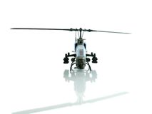 Helicopter. Retro helicopter on white background Royalty Free Stock Photography