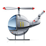 Helicopter. Illustration isolated on white background Royalty Free Stock Photography