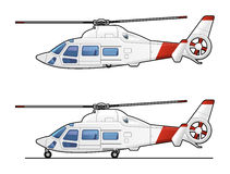 Helicopter. Illustration of the passenger  helicopter. Simple gradients only - no gradient mesh Stock Images