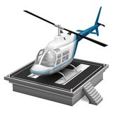 Helicopter. Vector Helicopter illustration on white background Stock Photo