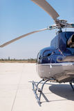 Helicopter. A helicopter parked on ground Royalty Free Stock Photography