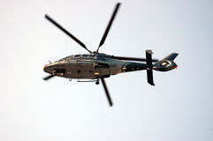 Helicopter. Hovering Helicopter Royalty Free Stock Photo