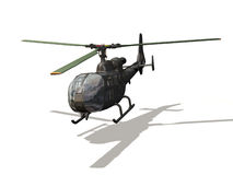 Helicopter. Computer image, helicopter 3D, isolated white background Royalty Free Stock Images