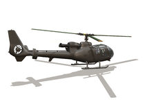 Helicopter. Computer image, helicopter 3D, isolated white background Stock Images